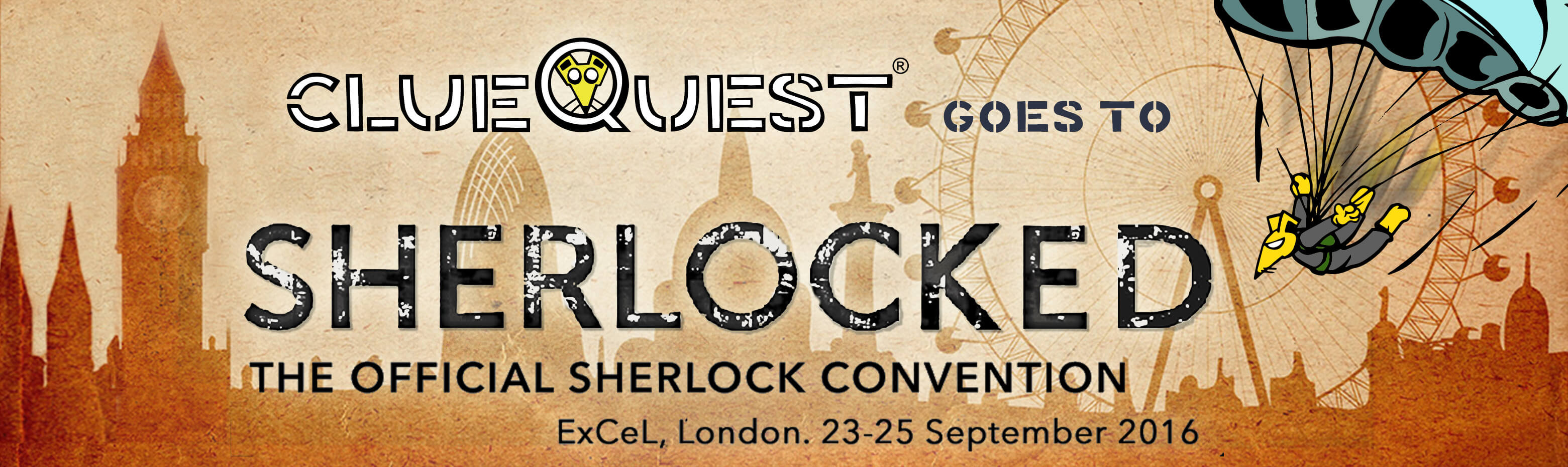 clueQuest at The official Sherlock convention - ExCel London 23-25 September