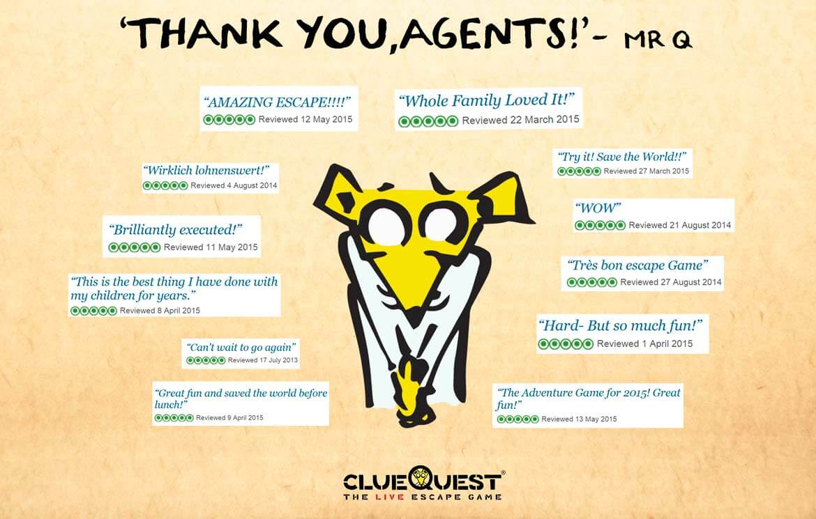 Thank you agents, reviews